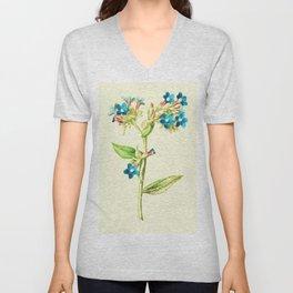 Columbine Flowers Unisex V-Neck