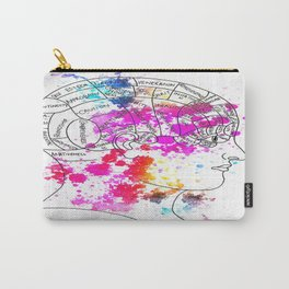 colourful phrenology head Carry-All Pouch