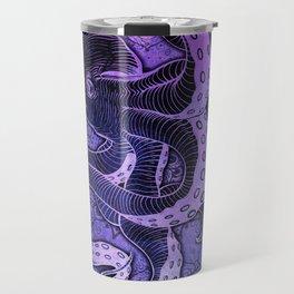 Octopus on Purple Damask Mandala Travel Mug