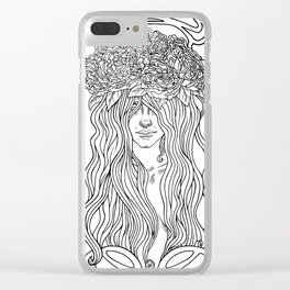 She. Art Nouveau. Clear iPhone Case