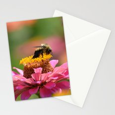 Bee on a Zinnia Stationery Cards