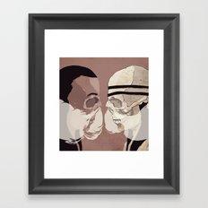 Skull Mask Framed Art Print
