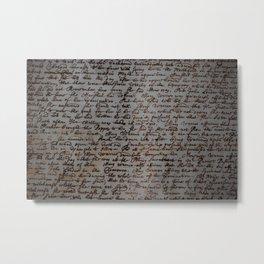 Old Writing Metal Print