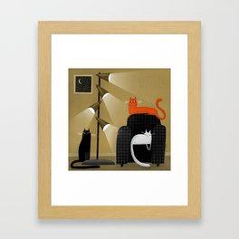 RETRO LAMP Framed Art Print