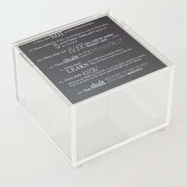 The 10 Commandments for Graphic Designers Acrylic Box