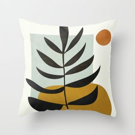 Soft Abstract Large Leaf Throw Pillow