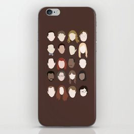 the office minimalist poster iPhone Skin
