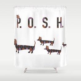 Posh Dachshund Family Shower Curtain