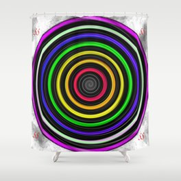 Sacred-Symmetry: Tunnel Of Love  Shower Curtain