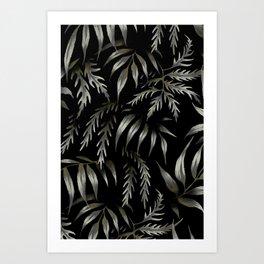 Brooklyn Forest - Black Art Print