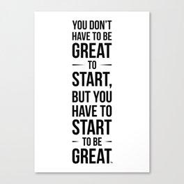 Start! Canvas Print