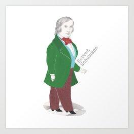 Robert Schumann Art Print
