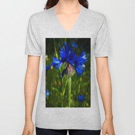 Cornflower Unisex V-Neck