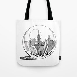 New York in a glass ball . Art . Tote Bag