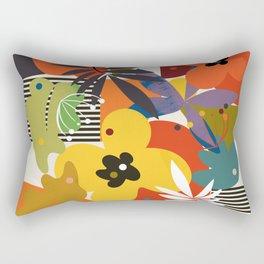 mid century minimal floral Rectangular Pillow