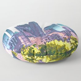 Minneapolis Minnesota Skyline Painted Style Floor Pillow