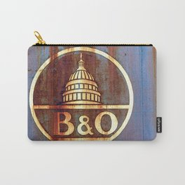 Rusty Railroad Sign Carry-All Pouch