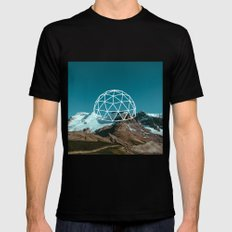 Geometry Mens Fitted Tee Black LARGE