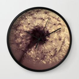 dandelion gold Wall Clock