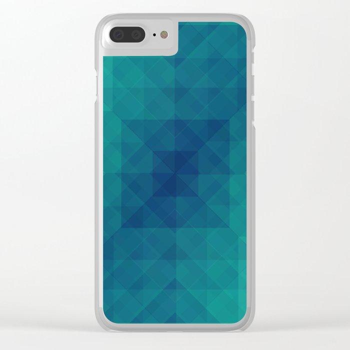 Emerald dreams Clear iPhone Case