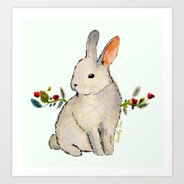 Cruelty Free Bunny Art Print