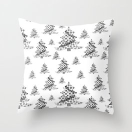 Christmas Tree Pattern Throw Pillow