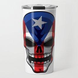 Puerto Rican Skull - Puerto Rico Pride Flag Travel Mug