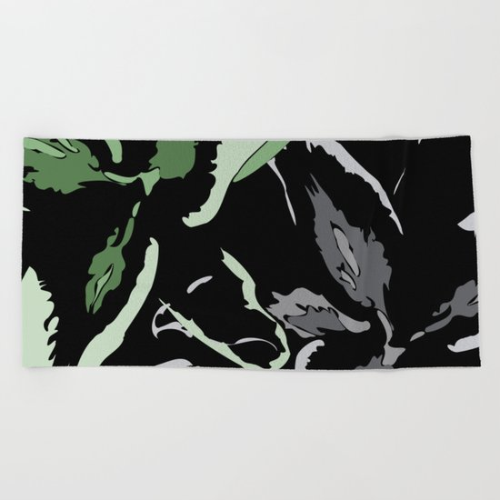 FLORAL ABSTRACTION Beach Towel
