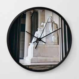 On His Marble Throne Wall Clock