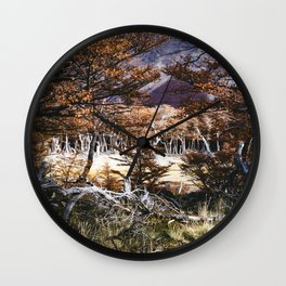 Fall in Patagonia, Argentina Wall Clock