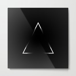 Abstraction 031 - Minimal Geometric Triangle Metal Print