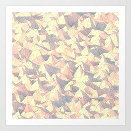 Lowpoly Pattern Art Print