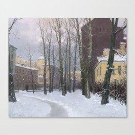 Winter at the Vasily's island Canvas Print