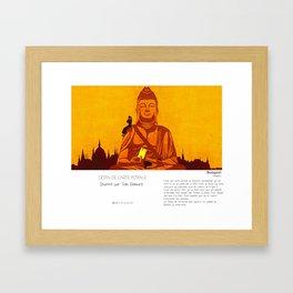 """Budapest"" en Mots & Image (French touch) by Toni Demuro Framed Art Print"