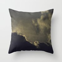 kansas Throw Pillows featuring Over Kansas by josemanuelerre