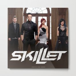 SKILLET TOUR DATES 2018 CICI3 Metal Print