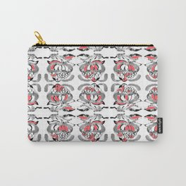 Red Flower Tile Carry-All Pouch