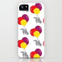 bunny on the balloon pattern iPhone Case