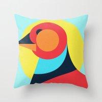 pagan Throw Pillows featuring Pagan animals - Bird by Atelier FP7