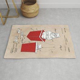 patent art Rubens Disappearing Santa in Chimney 1960 Rug