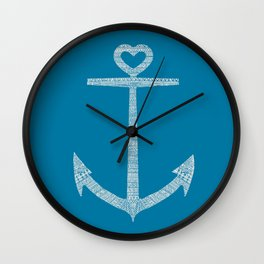 Love is the anchor Wall Clock