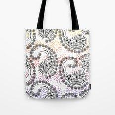 Funky Pinwheel Paisley Design Tote Bag