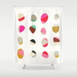 painted pebbles 1 Shower Curtain