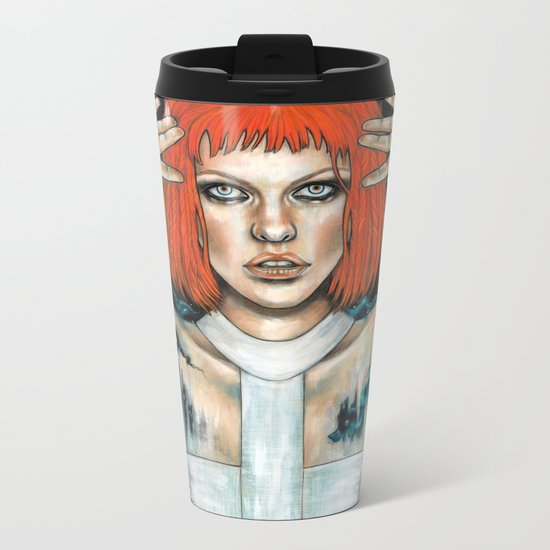 Leeloo Dallas Metal Travel Mug