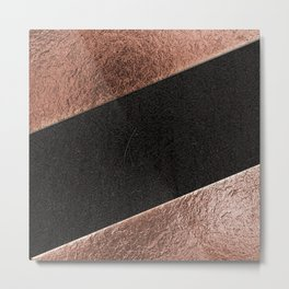 Leather and lattes Metal Print
