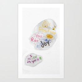 Affirmations Rock Art Print