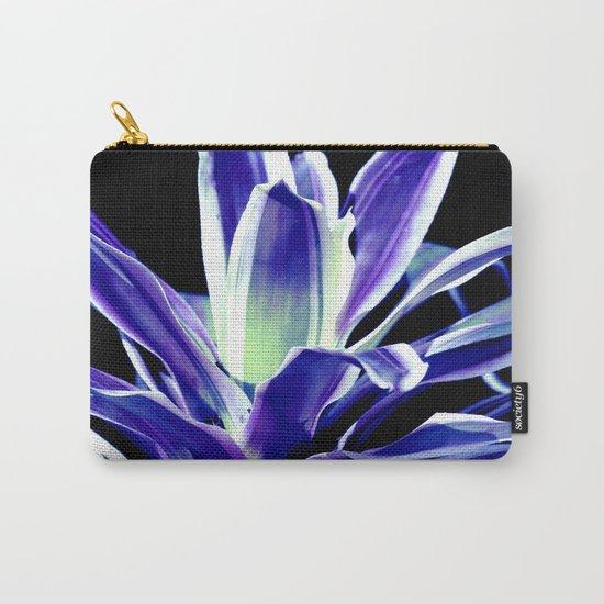 Indigo Blue Flower Carry-All Pouch