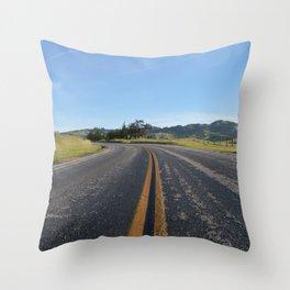 CA Road Throw Pillow