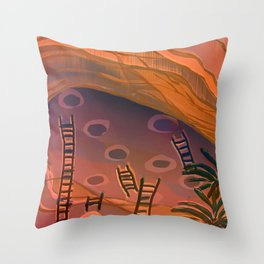 Ancestral Memories, Caves Throw Pillow