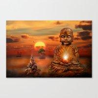 buddha Canvas Prints featuring Buddha by teddynash